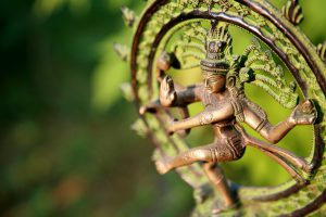 Statue of Shiva – Lord of Dance at sunlight